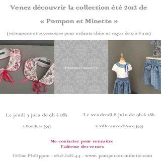 Vente Pompon et Minette 7 et 8  juin 2012 facebook
